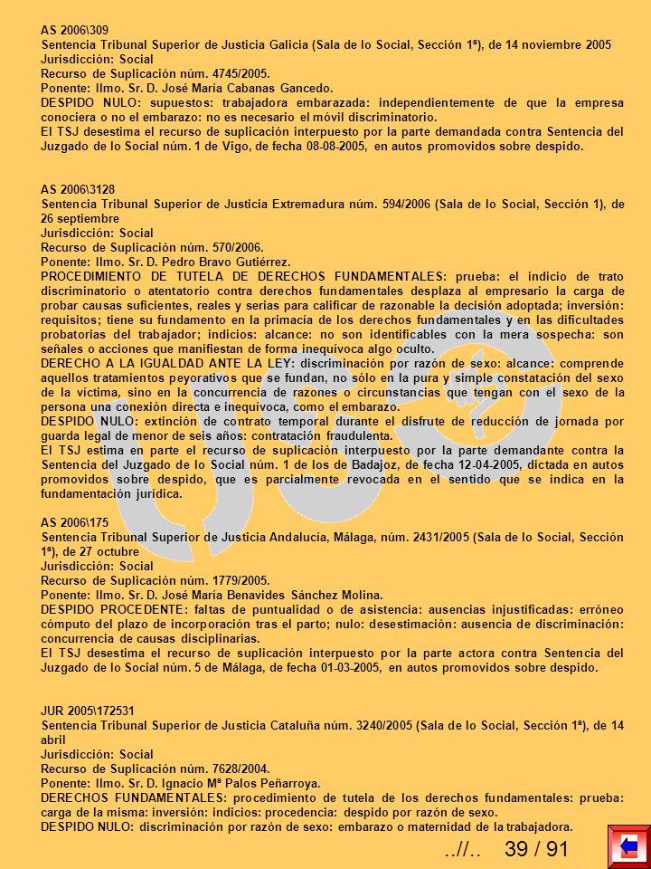 AS 2006\309Sentencia Tribunal Superior de Justicia Galicia (Sala de lo Social, Sección 1ª), de 14 noviembre 2005.