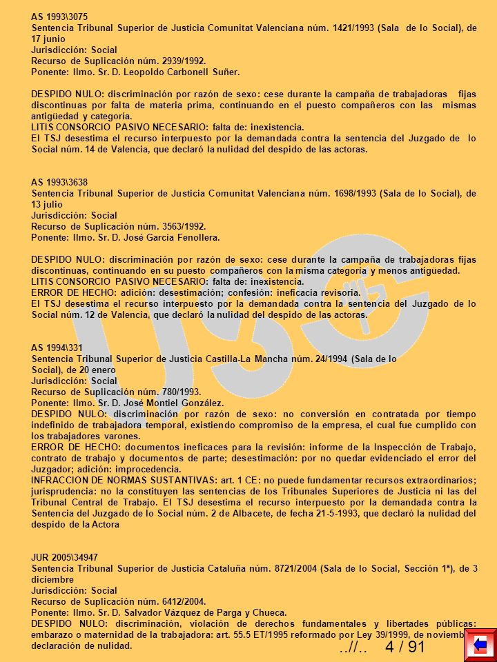 AS 1993\3075 Sentencia Tribunal Superior de Justicia Comunitat Valenciana núm. 1421/1993 (Sala de lo Social), de 17 junio.