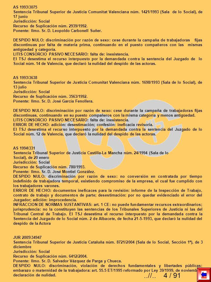 AS 1993\3075Sentencia Tribunal Superior de Justicia Comunitat Valenciana núm. 1421/1993 (Sala de lo Social), de 17 junio.