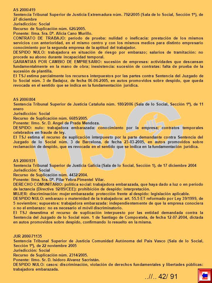 AS 2006\419 Sentencia Tribunal Superior de Justicia Extremadura núm. 792/2005 (Sala de lo Social, Sección 1ª), de 27 diciembre.