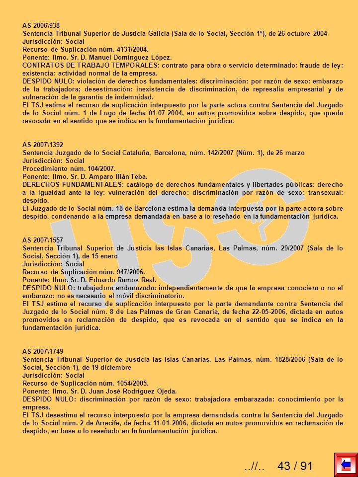 AS 2006\938Sentencia Tribunal Superior de Justicia Galicia (Sala de lo Social, Sección 1ª), de 26 octubre 2004.