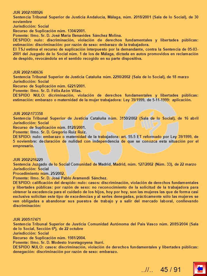 JUR 2002\108926 Sentencia Tribunal Superior de Justicia Andalucía, Málaga, núm. 2018/2001 (Sala de lo Social), de 30 noviembre.