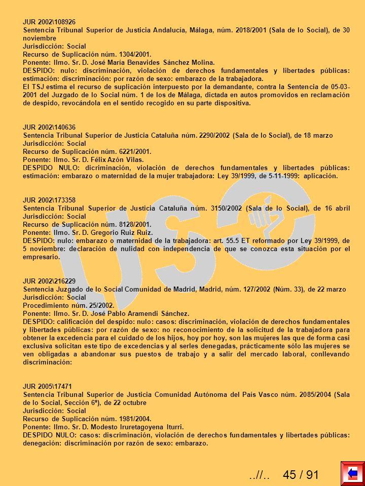 JUR 2002\108926Sentencia Tribunal Superior de Justicia Andalucía, Málaga, núm. 2018/2001 (Sala de lo Social), de 30 noviembre.