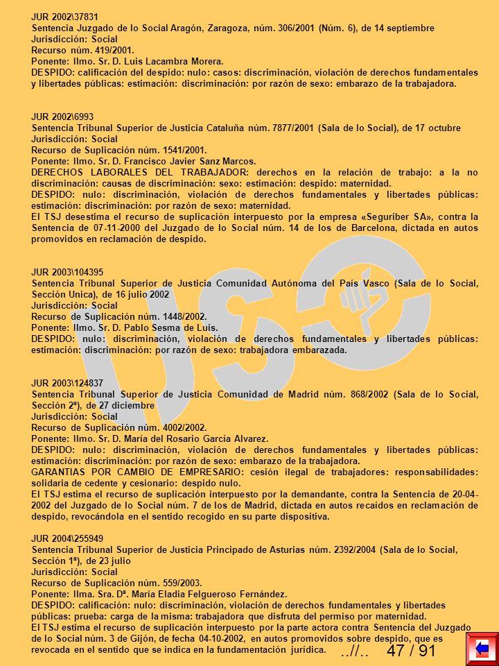 JUR 2002\37831 Sentencia Juzgado de lo Social Aragón, Zaragoza, núm. 306/2001 (Núm. 6), de 14 septiembre.