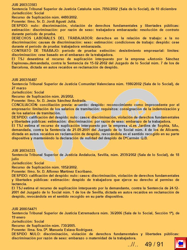 JUR 2003\33583Sentencia Tribunal Superior de Justicia Cataluña núm. 7856/2002 (Sala de lo Social), de 10 diciembre.