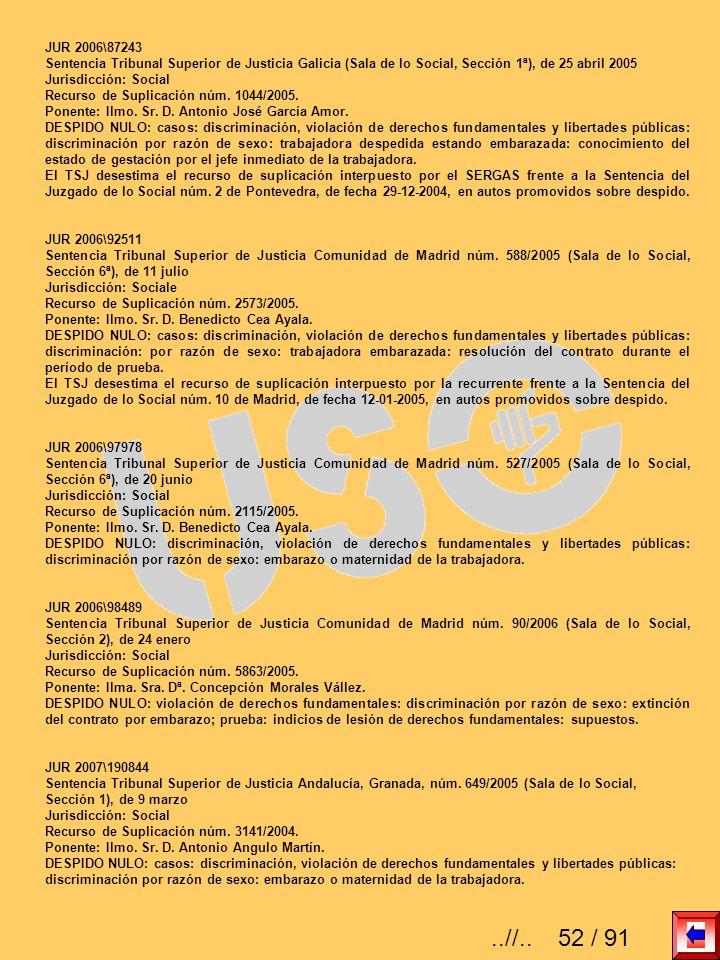 JUR 2006\87243 Sentencia Tribunal Superior de Justicia Galicia (Sala de lo Social, Sección 1ª), de 25 abril 2005.