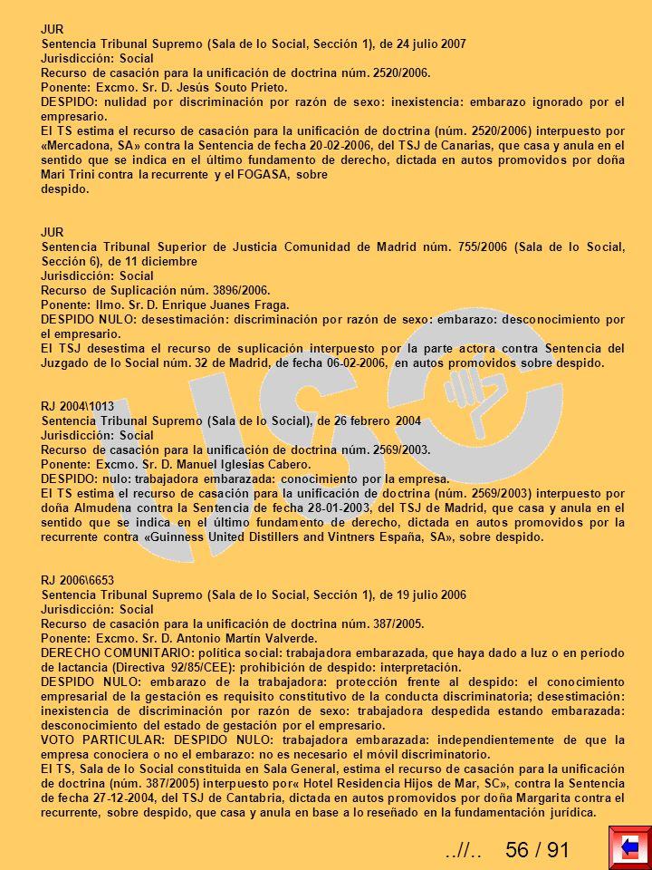 JUR Sentencia Tribunal Supremo (Sala de lo Social, Sección 1), de 24 julio 2007. Jurisdicción: Social.