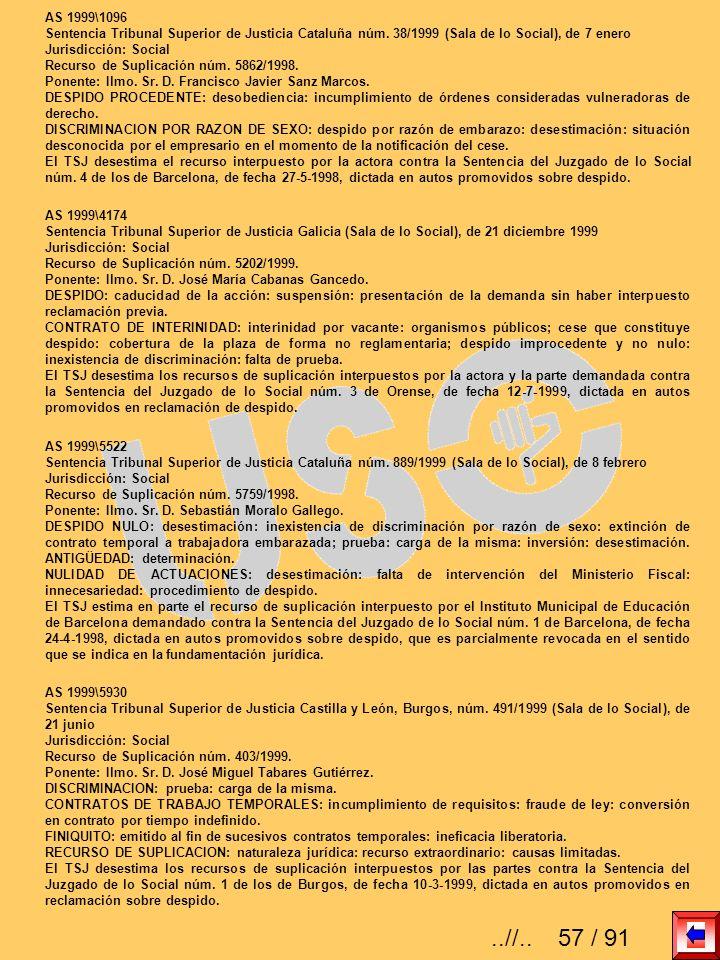 AS 1999\1096 Sentencia Tribunal Superior de Justicia Cataluña núm. 38/1999 (Sala de lo Social), de 7 enero.