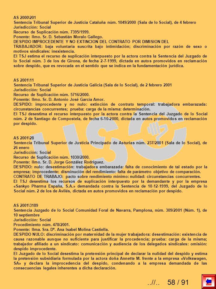 AS 2000\201Sentencia Tribunal Superior de Justicia Cataluña núm. 1049/2000 (Sala de lo Social), de 4 febrero.