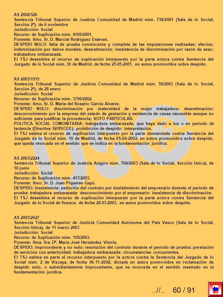 AS 2002\526 Sentencia Tribunal Superior de Justicia Comunidad de Madrid núm. 738/2001 (Sala de lo Social, Sección 2ª), de 6 noviembre.