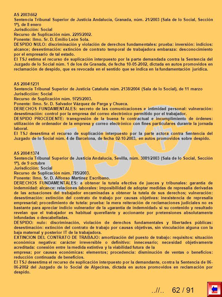 AS 2003\662 Sentencia Tribunal Superior de Justicia Andalucía, Granada, núm. 21/2003 (Sala de lo Social, Sección 1ª), de 8 enero.