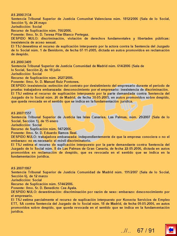 AS 2006\3134Sentencia Tribunal Superior de Justicia Comunitat Valenciana núm. 1812/2006 (Sala de lo Social, Sección 1), de 24 mayo.