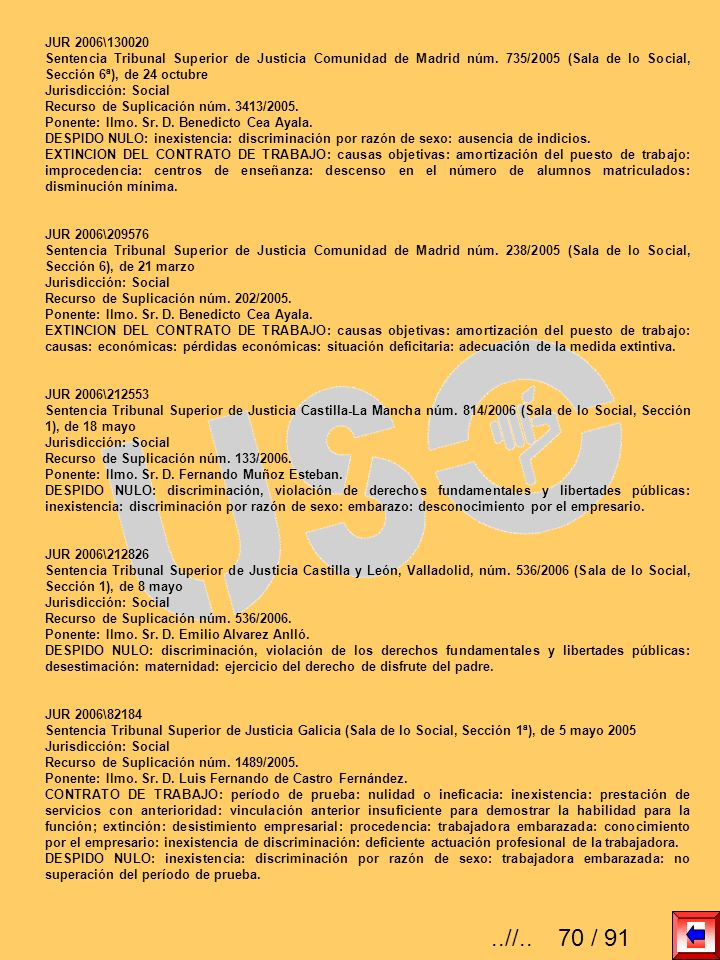 JUR 2006\130020 Sentencia Tribunal Superior de Justicia Comunidad de Madrid núm. 735/2005 (Sala de lo Social, Sección 6ª), de 24 octubre.