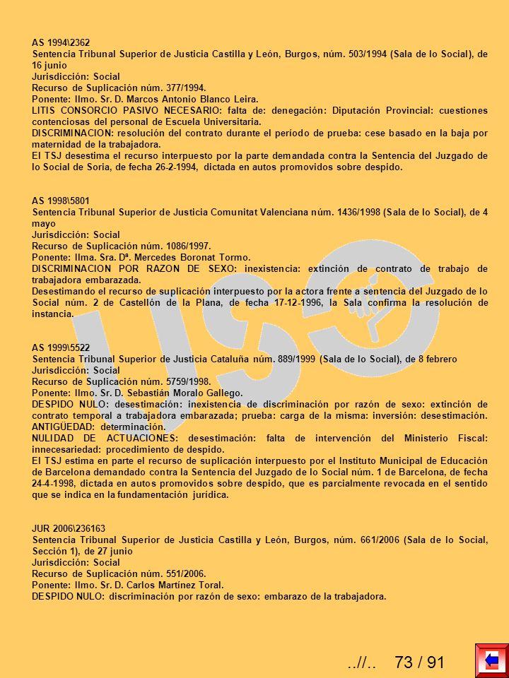 AS 1994\2362 Sentencia Tribunal Superior de Justicia Castilla y León, Burgos, núm. 503/1994 (Sala de lo Social), de 16 junio.