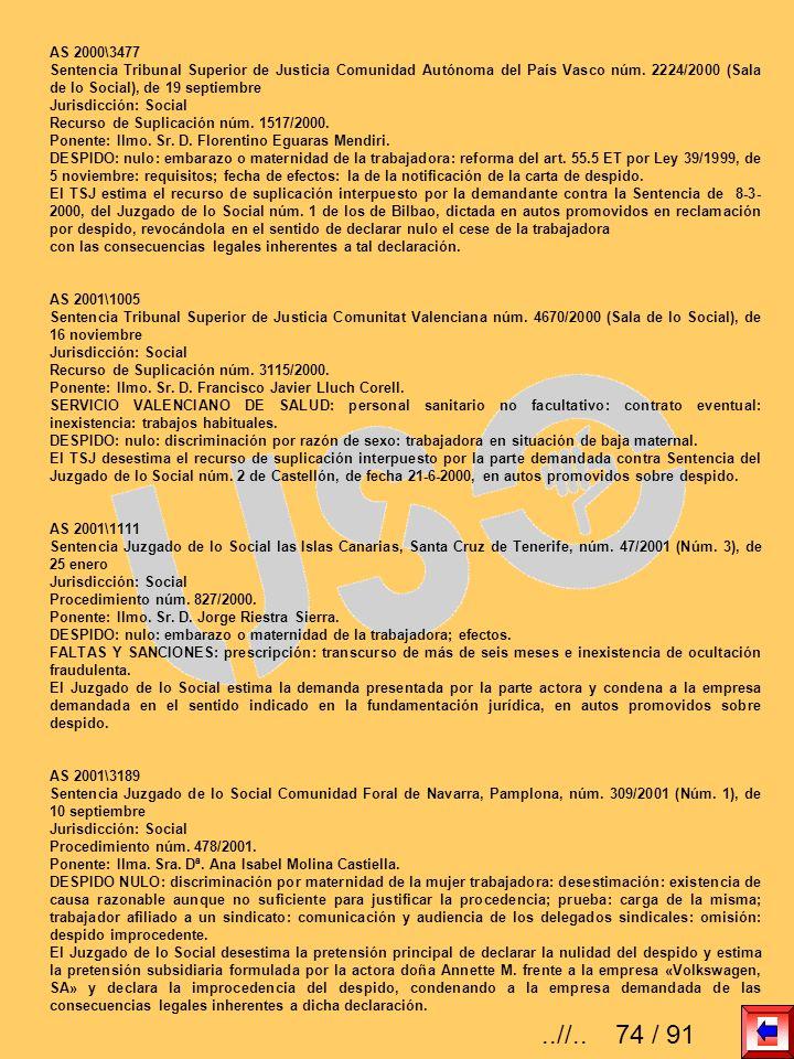AS 2000\3477Sentencia Tribunal Superior de Justicia Comunidad Autónoma del País Vasco núm. 2224/2000 (Sala de lo Social), de 19 septiembre.