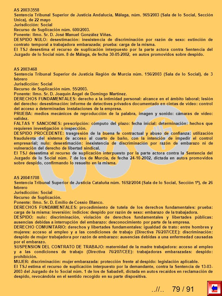 AS 2003\3558 Sentencia Tribunal Superior de Justicia Andalucía, Málaga, núm. 965/2003 (Sala de lo Social, Sección Unica), de 22 mayo.