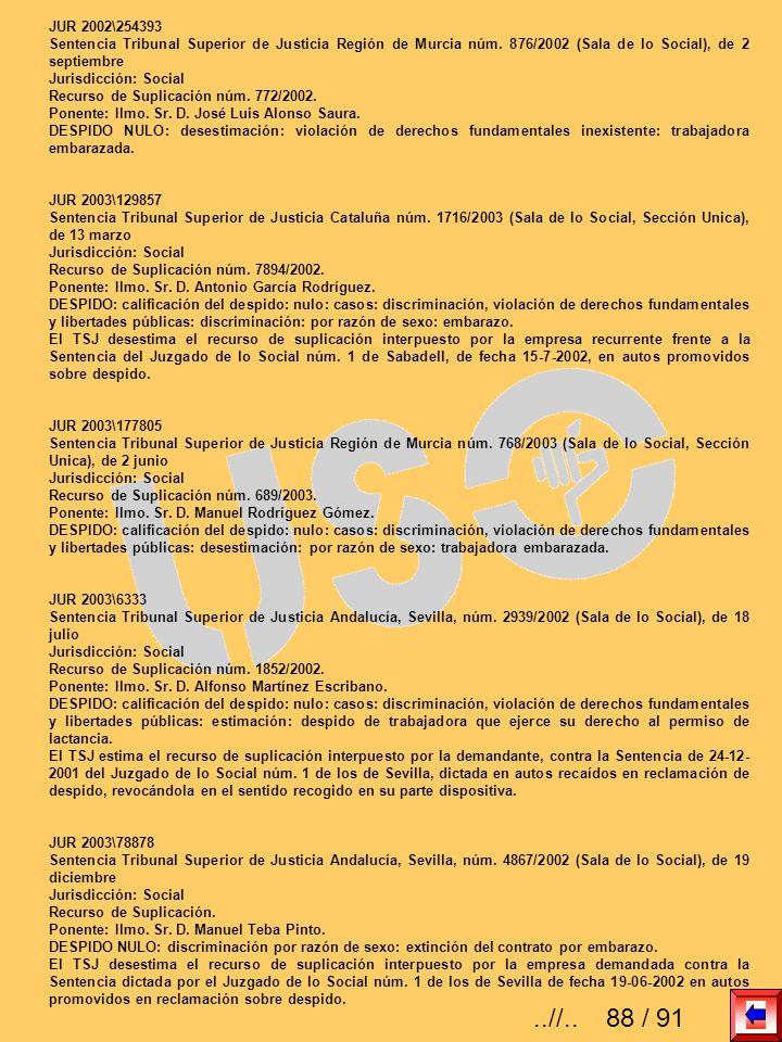 JUR 2002\254393 Sentencia Tribunal Superior de Justicia Región de Murcia núm. 876/2002 (Sala de lo Social), de 2 septiembre.