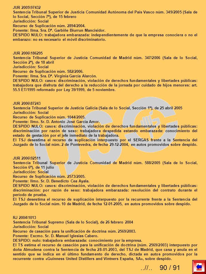 JUR 2005\97432 Sentencia Tribunal Superior de Justicia Comunidad Autónoma del País Vasco núm. 349/2005 (Sala de lo Social, Sección 7ª), de 15 febrero.