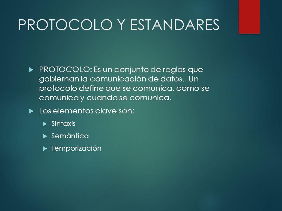 PROTOCOLO Y ESTANDARES