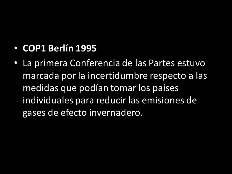COP1 Berlín 1995