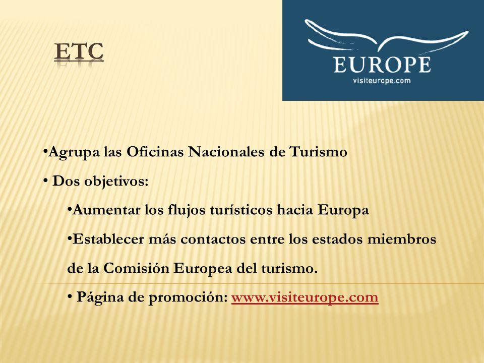 ETC Agrupa las Oficinas Nacionales de Turismo Dos objetivos: