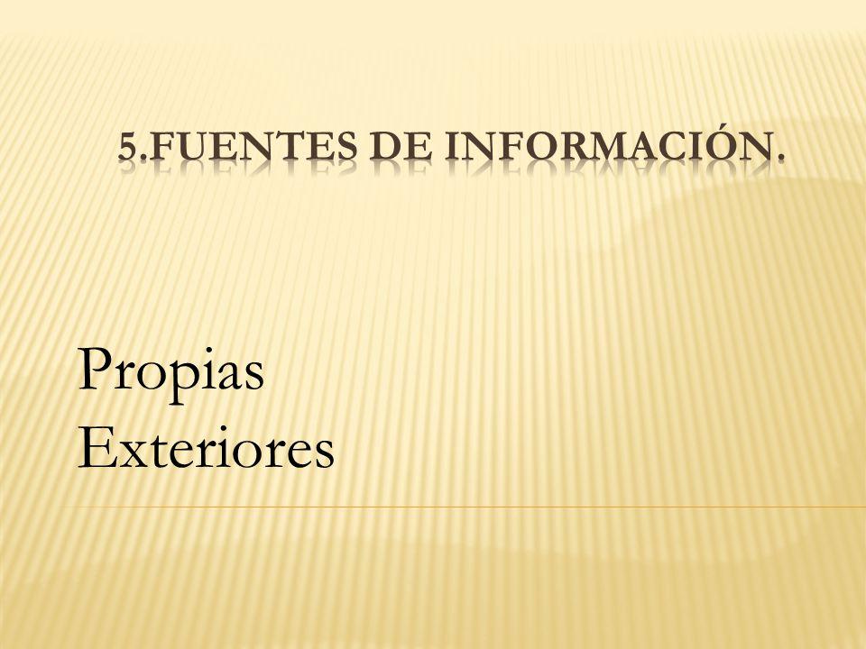 5.Fuentes de información.