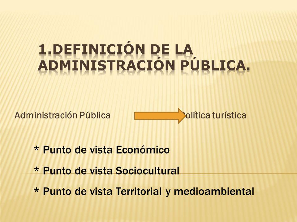 1.Definición de la administración pública.