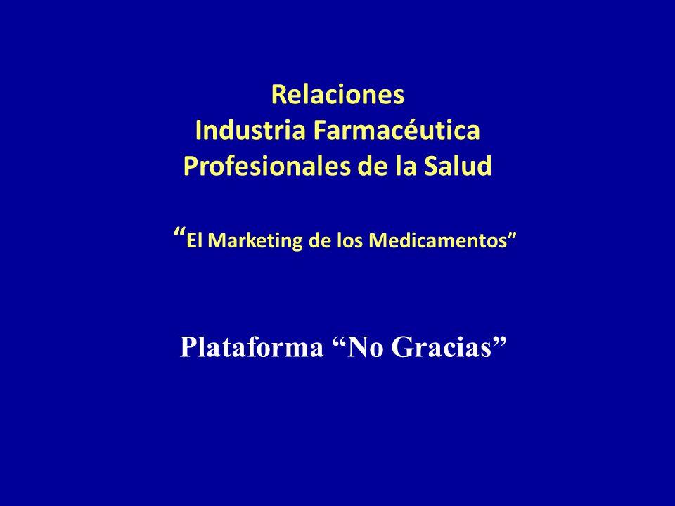 Relaciones Industria Farmacéutica Profesionales de la Salud