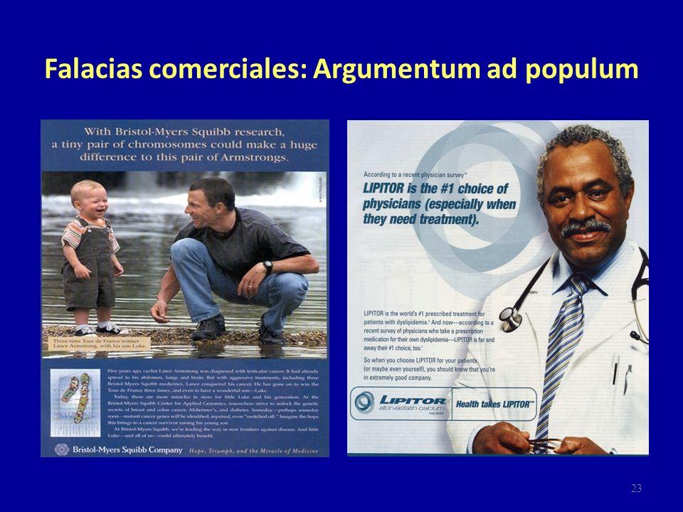 Falacias comerciales: Argumentum ad populum