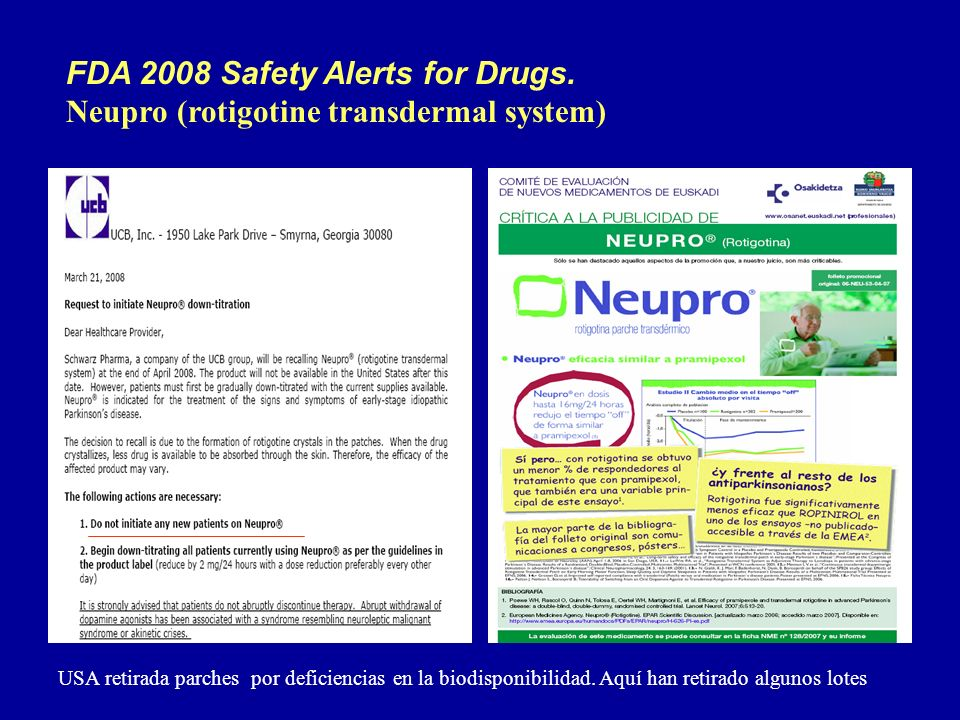 FDA 2008 Safety Alerts for Drugs.