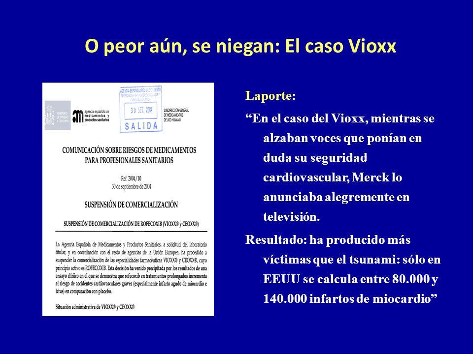 O peor aún, se niegan: El caso Vioxx