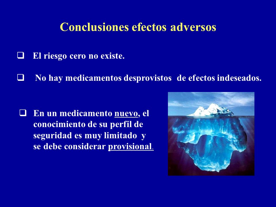 Conclusiones efectos adversos