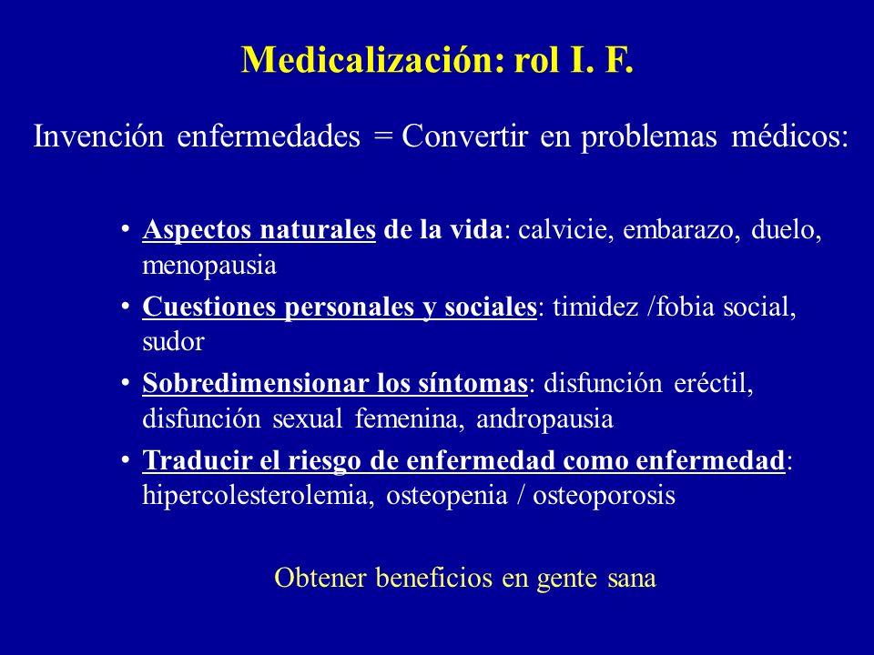 Medicalización: rol I. F.