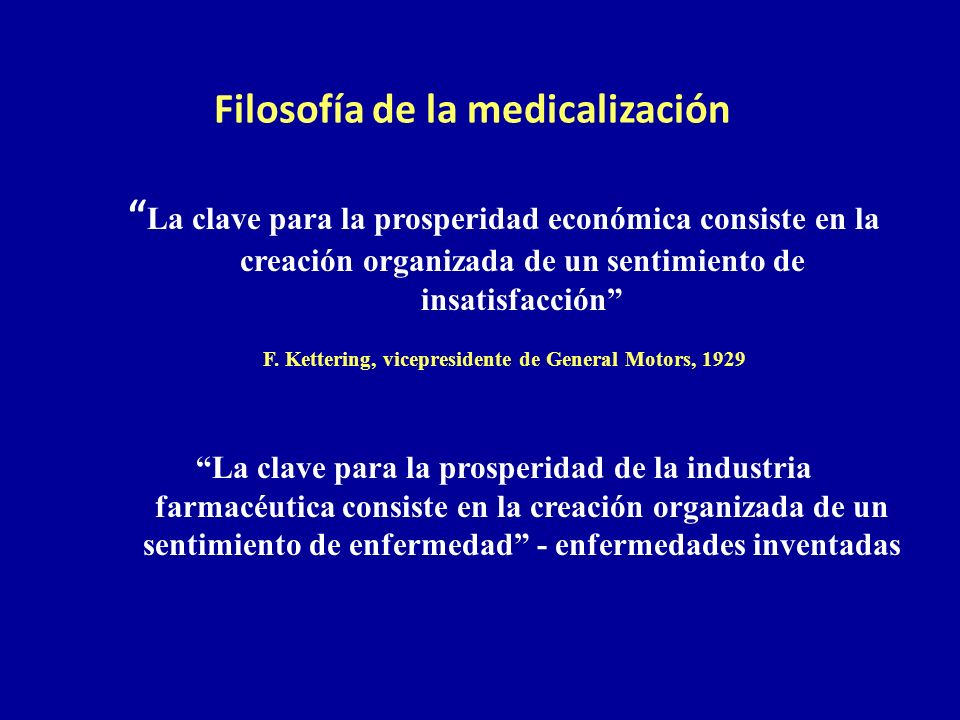 Filosofía de la medicalización