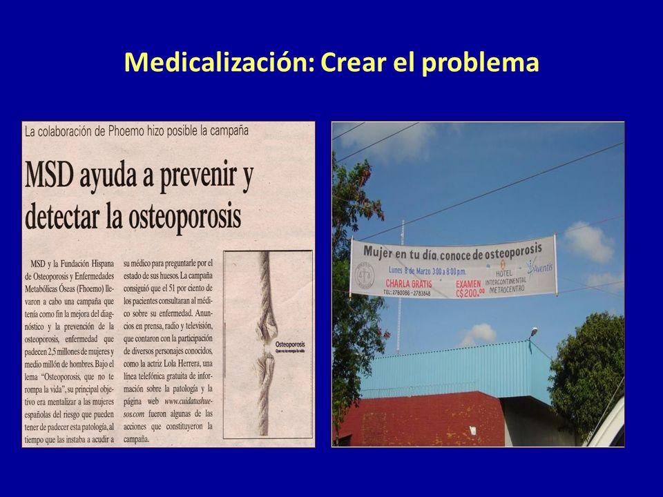 Medicalización: Crear el problema