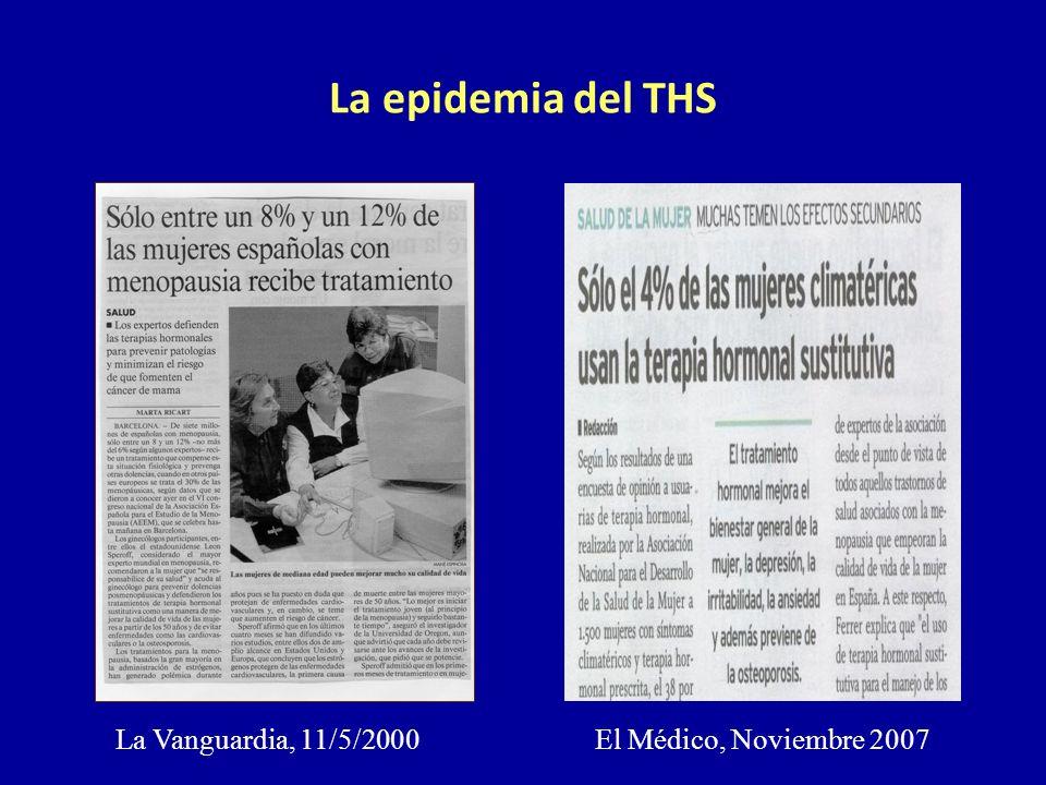 La epidemia del THS La Vanguardia, 11/5/2000 El Médico, Noviembre 2007