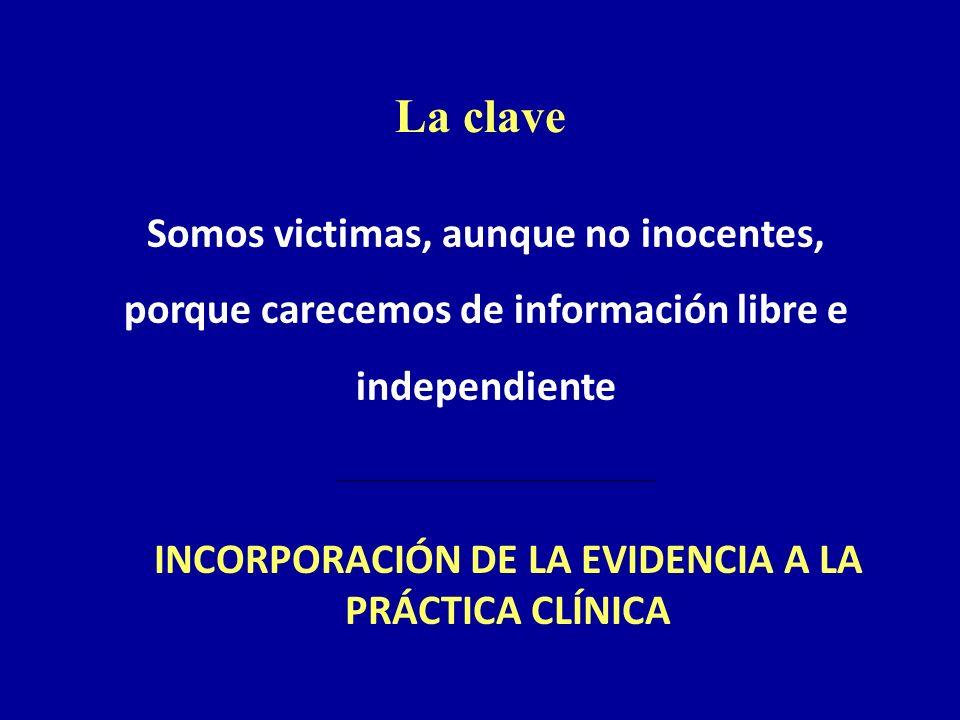 INCORPORACIÓN DE LA EVIDENCIA A LA PRÁCTICA CLÍNICA