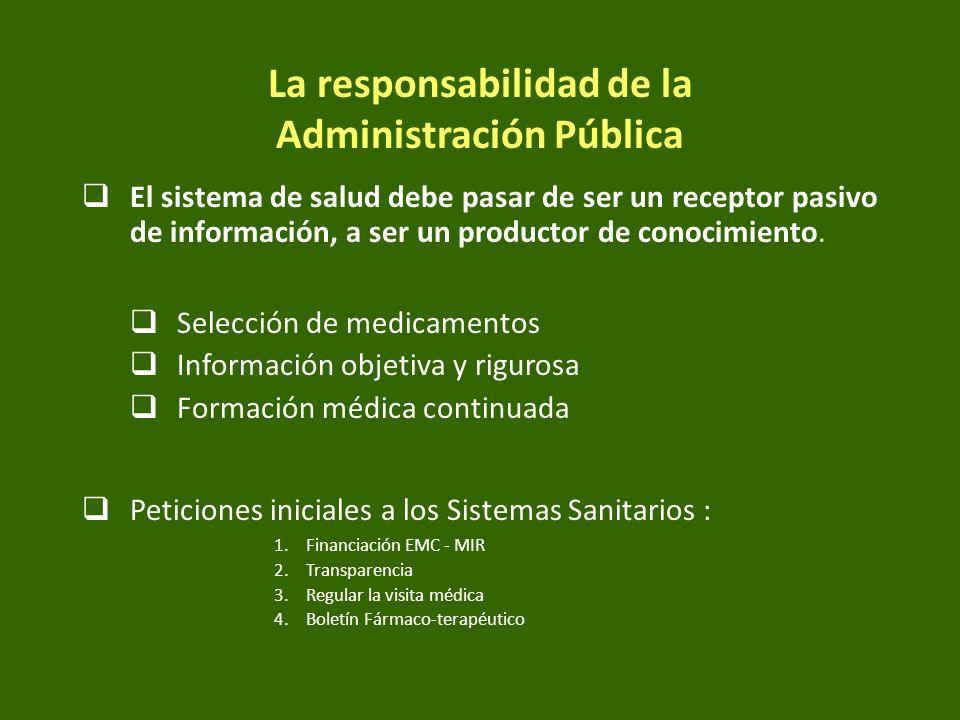 La responsabilidad de la Administración Pública
