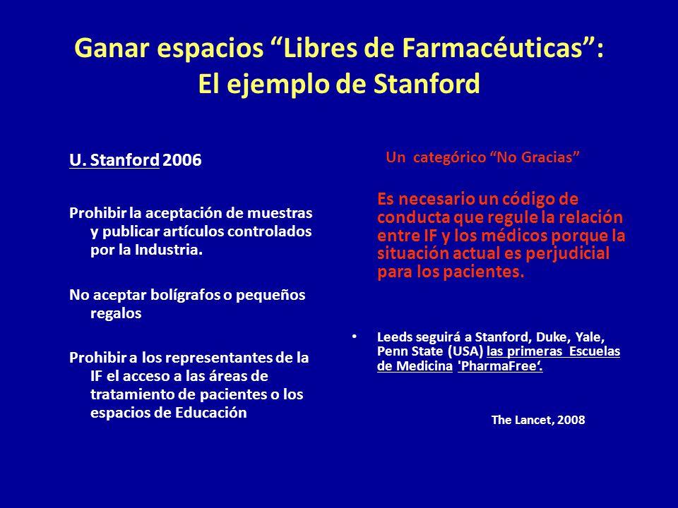 Ganar espacios Libres de Farmacéuticas : El ejemplo de Stanford