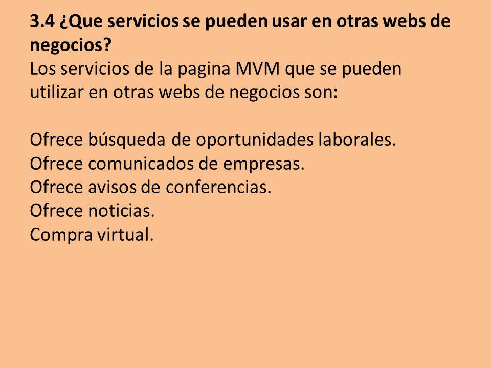 3. 4 ¿Que servicios se pueden usar en otras webs de negocios