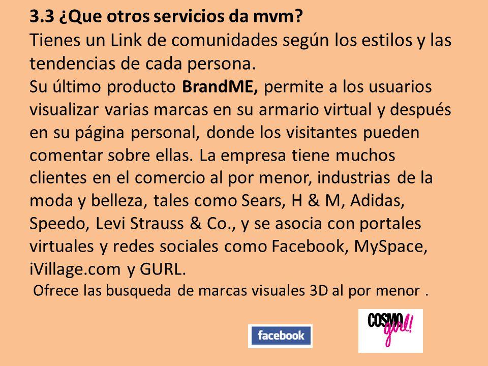 3. 3 ¿Que otros servicios da mvm