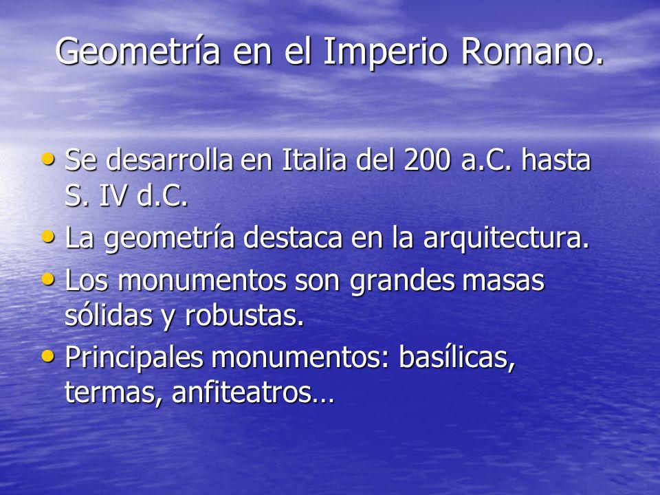 Geometría en el Imperio Romano.