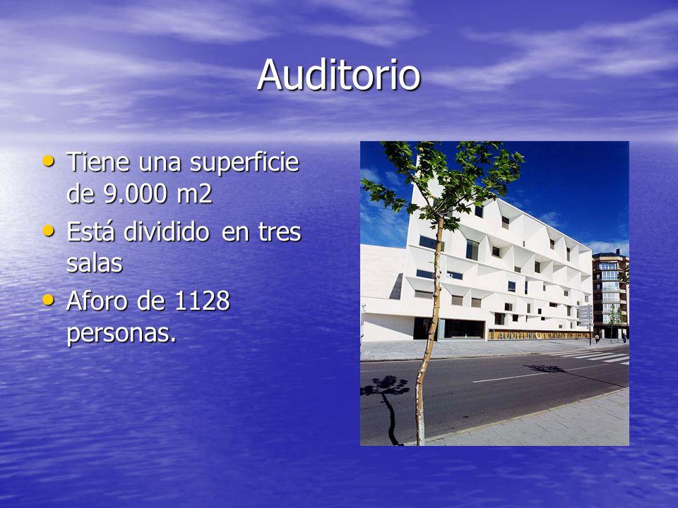 Auditorio Tiene una superficie de 9.000 m2 Está dividido en tres salas
