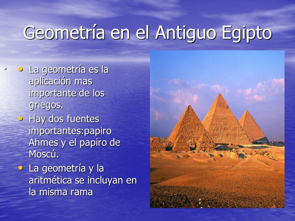 Geometría en el Antiguo Egipto