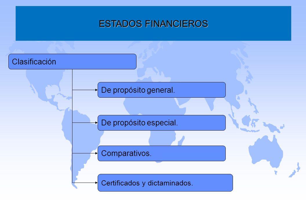 ESTADOS FINANCIEROS Clasificación De propósito general.