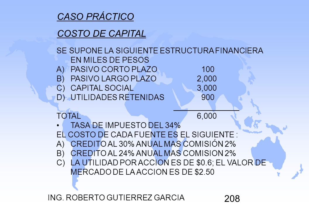 CASO PRÁCTICO COSTO DE CAPITAL