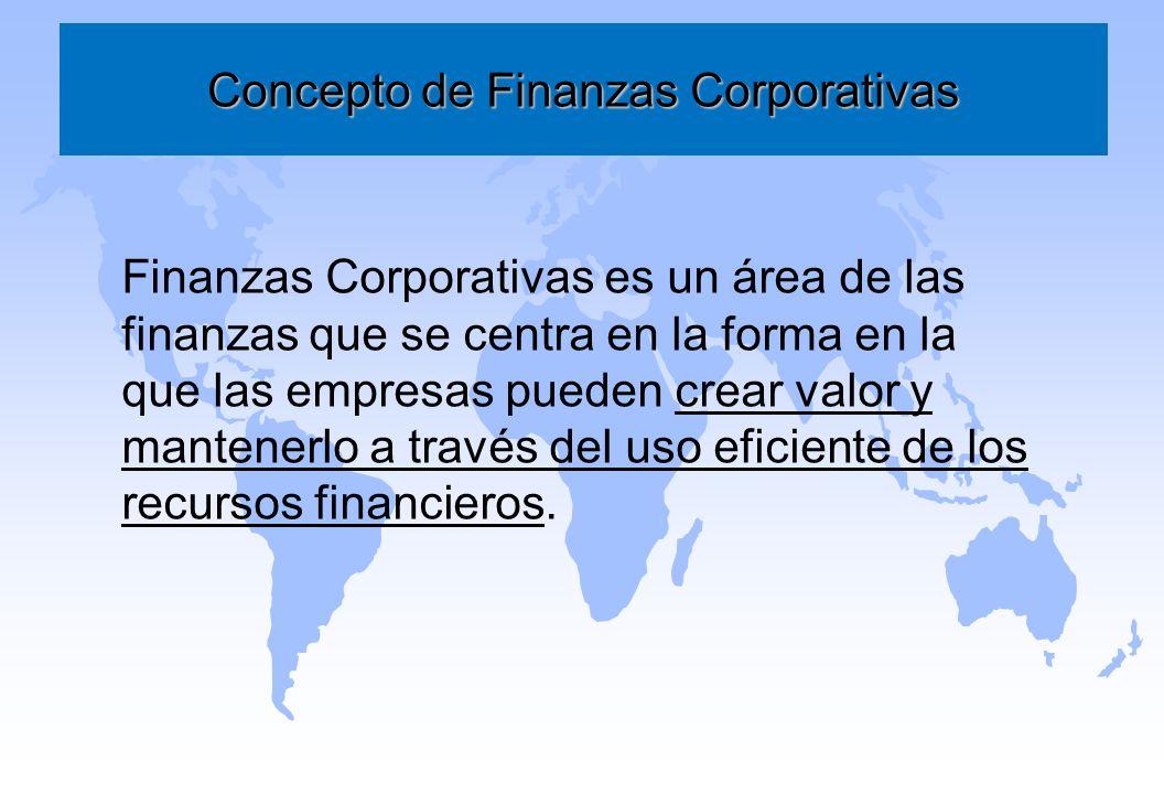 Concepto de Finanzas Corporativas