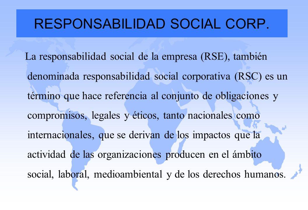 RESPONSABILIDAD SOCIAL CORP.