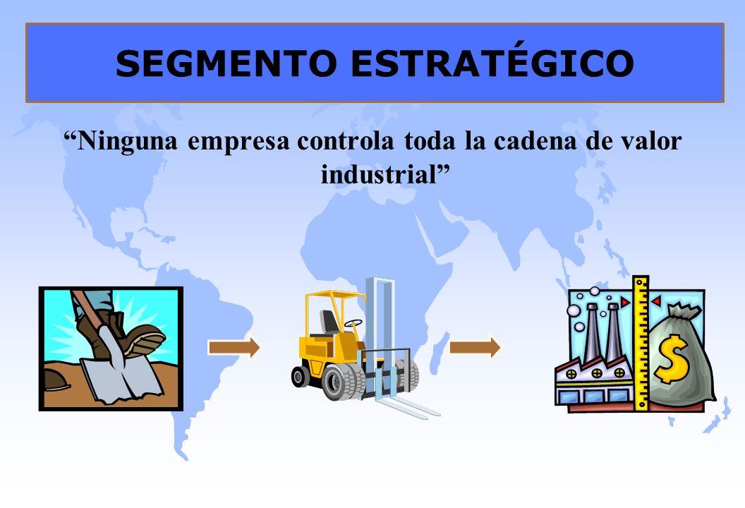 Ninguna empresa controla toda la cadena de valor industrial