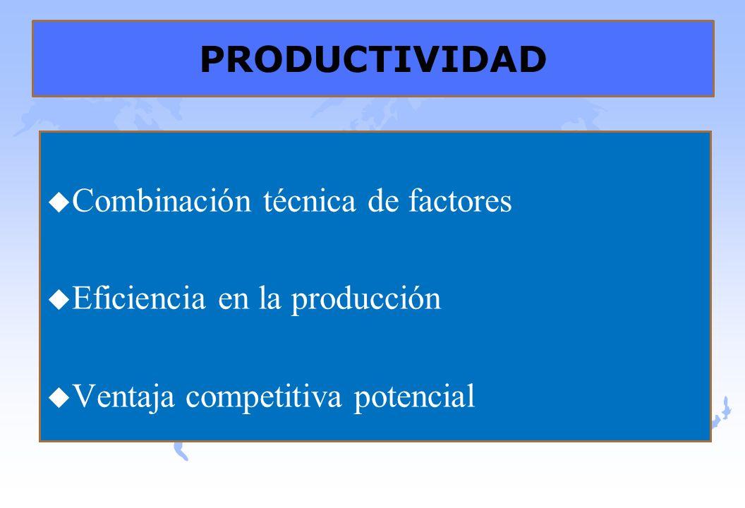 PRODUCTIVIDAD Combinación técnica de factores